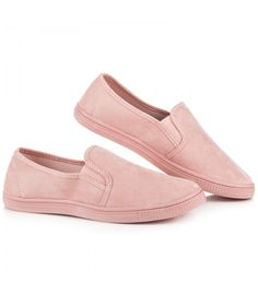 Športové dámske topánky vodtieňoch svetlo ružovej farby. Model vyrobený zpríjemného syntetického semišu. Vnútorná vložka je ztextilného materiálu. Podrážka je gumová so vzorovaním. Päta ašpička sú plné mäkké. Ľahšie obúvanie zabezpečujú pružné gumičky vsadené do lemu topánky. Tieto topánky sú predurčené na každodenné nosenie vchladnejších letných dňoch.