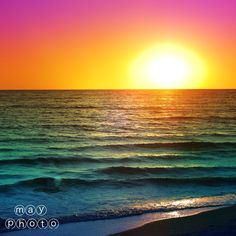 Rainbow Sunset by Craig & Rheana May. Purchase at www.May-Photography.com  #PinoftheDay #sunsets #beach
