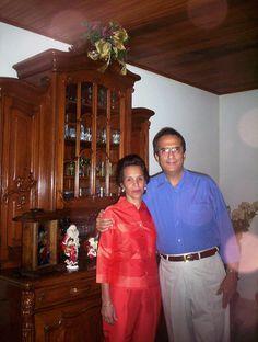 Lolo Morale con su esposa Marisol en el 2005