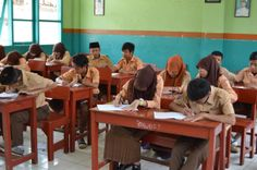 Suasana Belajar TryOut Kelas 9 MTs Al-Kautsar