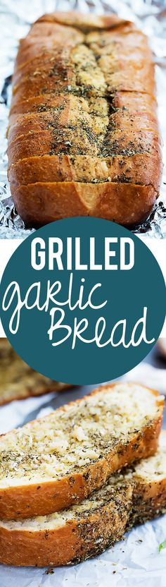 Business Cookware Ought To Be Sturdy And Sensible Easy Buttery Grilled Garlic Bread Creme De La Crumb Yummy Recipes, Cooking Recipes, Yummy Food, Recipes Dinner, Traeger Recipes, Smoker Recipes, Cooking On The Grill, Garlic Bread, Garlic Butter