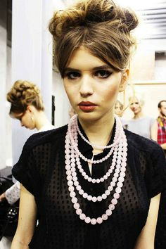 Pop Culture And Fashion Magic: Ulyana Sergeenko spring/summer 2012 – a backstage point of view