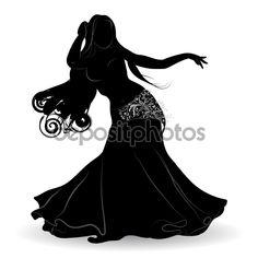 Baixar - Silhueta de dançarina do ventre em movimento — Ilustração de Stock #113023662