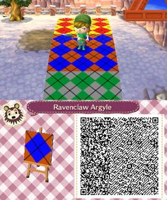 Argyle in Ravenclaw House Colors (Book) #AnimalCrossing #ACNL #AnimalCrossingNewLeaf