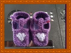 Hand Knitted T-Bar Shoes