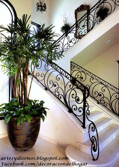 33 cool foyer designs ideas for home 31 Interior Stairs, Iron Staircase, Home Interior Design, House Design, Foyer Design, Stairs Design, Wrought Iron Staircase, Wrought Iron Stairs, Iron Decor