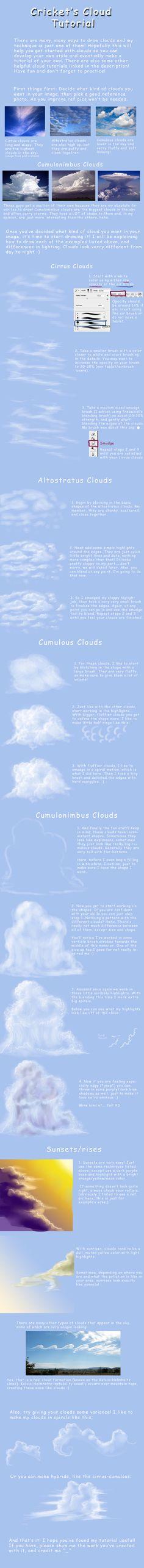 Cloud Tutorial by Crickatoo on DeviantArt