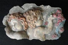 Vintage Florentine Art Studio Cherubs Box by ArtsCollectiblesbyKT, $39.00