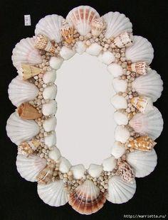 crafts made of seashells for bathroom interior (4) (480x631, 153Kb)