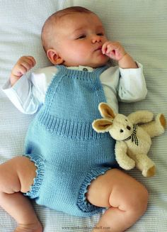 Baby Knitting Patterns Romper Dress in Debbie Bliss Baby Cashmerino - CF05. Discove...