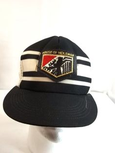 f21a79be861 Vintage House of Heileman Beer Cap Hat Trucker Mesh Snapback S M  SnapATab  Beer