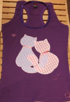 camisetas decoradas aplicaciones - Pinterest