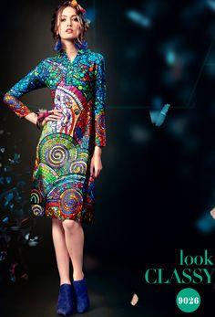 Readymade #Green #Cotton Satin #Printed #Kurti #nikvik  #usa #designer #australia #canada #freeshipping #dress #tunic