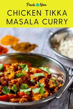 This Chicken Tikka Masala Curry is the perfect Indian Fakeaway #chicken #kebabs #fakeaway