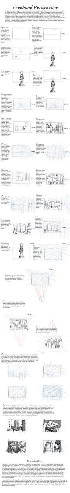 Freehand Perspective Drawing Tutorial by *AdamMasterman on deviantART