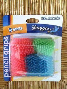 Shaggies pencil gripper fidgets