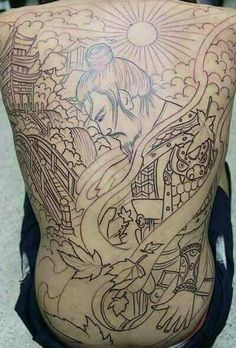 Body Art Tattoos, Tattoo Drawings, Small Tattoos, Sleeve Tattoos, Samurai Tattoo, Samurai Art, Tebori Tattoo, Hannya Mask Tattoo, Full Back Tattoos