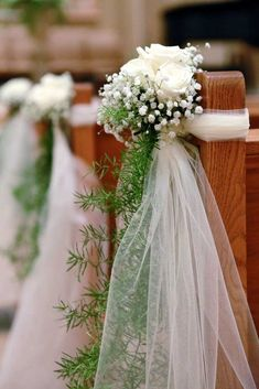 37 Best Wedding Pew Decorations Images Church Ceremony Decor