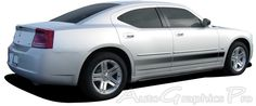 "2006-2014 Dodge Charger ""VANGUARD"" Lower Rocker Panel Fade Style Universal Fit Vinyl Decal Graphic Stripes"