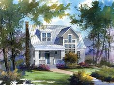 Cabin house plans offer a rustic simplicity.  Cabin style also encompasses Swiss-inspired chalets and Craftsman-influenced bungalows. The straightforward footprints and simple roofs of cabin floor plans are inexpensive to build and efficient to maintain.  One thing that all cabins have in common is a porch, deck, or other space in which to enjoy the outdoors.