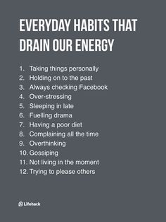 12 Everyday Habits That Drain Our Energy - DesignTAXI.com