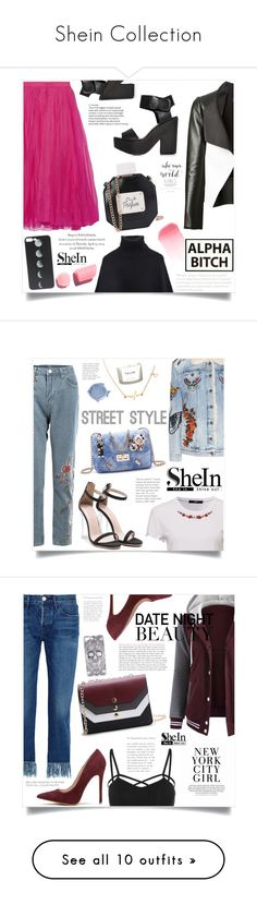 """""""Shein Collection"""" by violet-peach ❤ liked on Polyvore featuring Gucci, David Koma, Juliska, NEOM Organics, 3x1, WithChic, H&M, Oasis, GEDEBE and The Body Shop"""