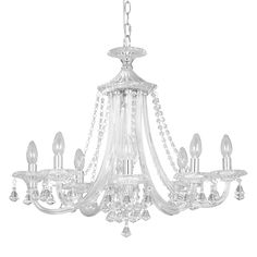 Bethany chandelier 6 arm lighting online john lewis and ceiling buy john lewis ophelia crystal chandelier 8 light online at johnlewis 550 aloadofball Image collections