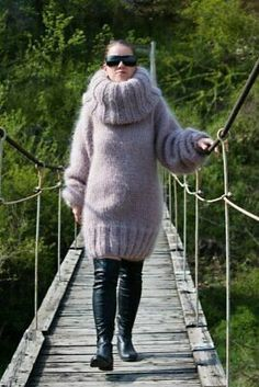 Mohair Sweater, Hand Knitting, Turtle Neck, Beige, Pullover, Long Hair Styles, Sleeves, Sweaters, Dresses