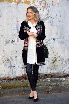 patterned cardigan w