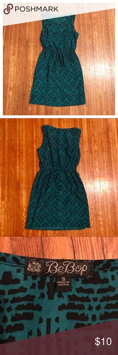 💥 SALE 💥 BeBop Sundress Teal and black sundress from BeBop. Neckline has strappy open design as seen in picture. Great condition. Offers welcome. BeBop Dresses Mini