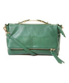 Nila Anthony Green Fold-Over Crossbody