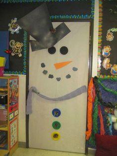 snowman door students love it! Classroom Decor Themes, School Decorations, Classroom Door, Christmas Decorations, Classroom Ideas, Preschool Art, Preschool Activities, Holiday Fun, Holiday Crafts