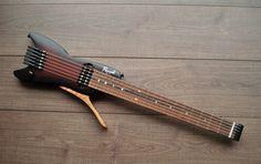 Travel Guitar - Always Aspired To Learn Guitar? Guitar Pics, Cool Guitar, Small Guitar, Homemade Instruments, Music Machine, Guitar Building, Custom Guitars, Guitar Design, Guitar Strings