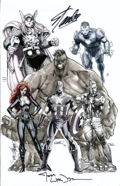 brianmichaelbendis:  Avengers (MCU Team) Jam-Commission: Layout...