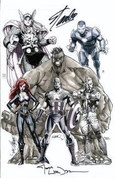 brianmichaelbendis:  Avengers (MCU Team) Jam-Commission: Layout...