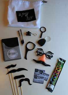 Spy Kit! My kids LOVED this! My sister made them a kit for Christmas and I have been under surveillance ever since!