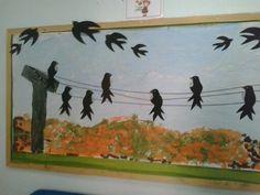 Αποδημητικα πουλια Autumn, Fall, Kindergarten, Birds, Spring, Painting, School, Ideas, Fall Season