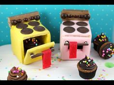 Mini Cookie Ovens! Edible Easy-Bake Ovens made w/ Candy, Cupcakes, and Cookies!  : MyCupcakeAddiction - 6/26/15