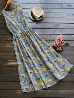 GET $50 NOW | Join Zaful: Get YOUR $50 NOW!http://m.zaful.com/sleeveless-drawstring-lemon-print-maxi-dress-p_284129.html?seid=3723146zf284129