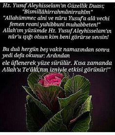 Hz. Yusuf Aleyhisselamın Güzellik Duası – corek-otu-yagi.com Pray, Life, Prayer