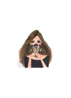 Make-up Guru Fashion Illustration Make-up Art Make-up Dekor Makeup Illustration, Illustration Artists, Fashion Illustrations, Pinterest Inspiration, Makeup Drawing, Drawing Art, Makeup Wallpapers, Makeup Artist Logo, Makeup Pallets