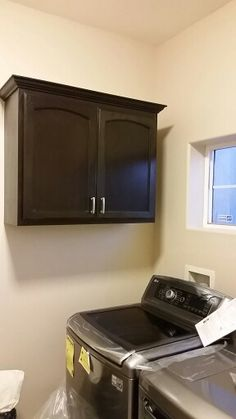 Randy made us laundryroom cabinets that match the kitchen cabinets