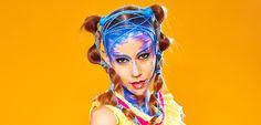 Maquillaje de Moda Creativa realizado por alumnos del curso de maquillaje profesional 2014/15. ¿Te vienes? Infórmate: hola@colors-up.com// ☏ 93 412 55 11