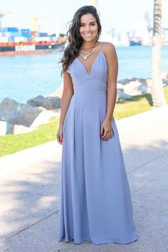 97ff44c6530b3 Buy this amazing Lilac Gray Maxi Dress with Open Back from Saved by the  Dress Boutique