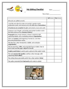 Descriptive Essay Writing Peer Review Sheet  Peer Review