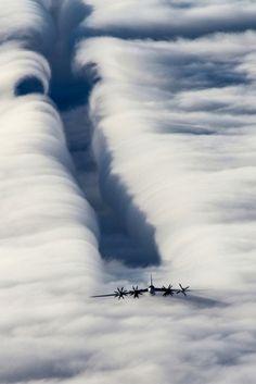 Clouds and Tu-95