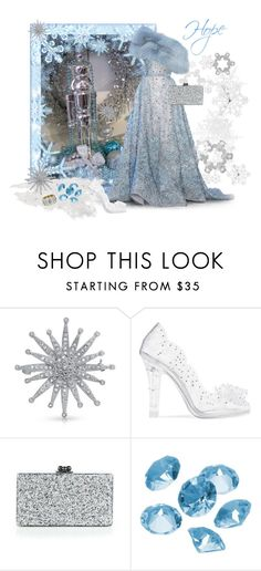 """""""Brain tumor foundation charity Christmas ball"""" by joyfulmum ❤ liked on Polyvore featuring Elie Saab, Bling Jewelry, Dolce&Gabbana, Edie Parker, Blue La Rue and Nicholas Varney"""