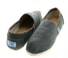 Toms Womens Classics Linen Shoes Black