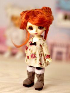 Wig Lucky Fox made in mohair for dolls Lati Yellow Pukifee numina tonner monster high Sybarite jamieshow 5/6