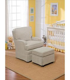 Best Chairs Charlotte Upholstered Swivel Glider - Stone